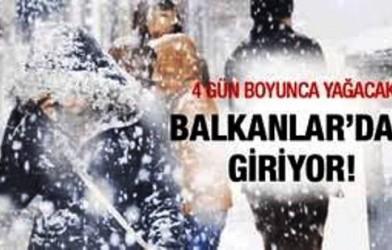 Meteoroloji'den bir uyardı ! Balkanlar'dan kar geliyor