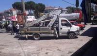 Üzgünüz Etili de kaza bir işçi öldü Bir işçi yaralı.