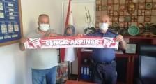 Yeni Çan Spor yönetiminden İlçe Emniyet Müdürü Cengiz Akpınar'a ziyaret.