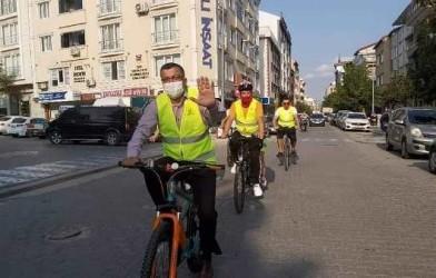 Başkan Bülent ÖZ Avrupa Hareketlilik Haftası Kapsamında Bisiklet Sürdü