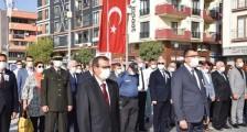 23 Eylül Çan'ın Düşman İşgalinden Kurtuluşunun 98. Yıldönümü Atatürk büstüne çelenk sunma programıyla başladı.