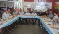 Çan Kamyoncular Motorlu Taşıyıcılar Kooperatifi Yeni Başkanı İsmail Bulut kahvaltı verdi.